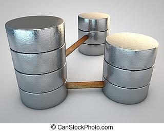 simbólico, prata, base dados