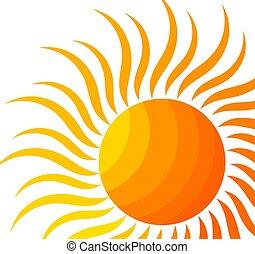 simbólico, sol, ilustração