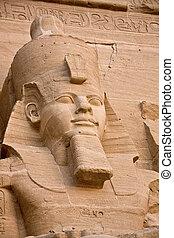 simbel, 砂漠, egypt., abu, 寺院, nubian