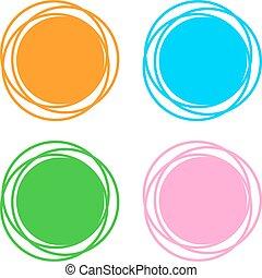 simboli, astratto, colorare