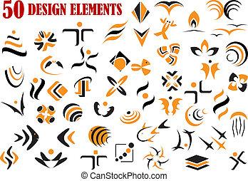 simboli, astratto, disegno, elementi