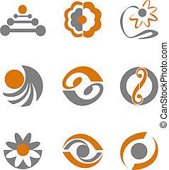 simboli, astratto, set