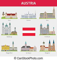 simboli, austria., città
