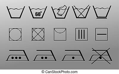 simboli, bucato