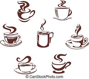 simboli, caffè tè