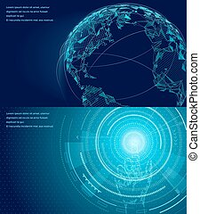 simboli, comunicazione, poster., internazionale