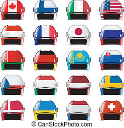 simboli, di, hockey, nazioni