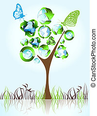 simboli,  eco, verde,  bio, riciclare