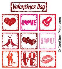 simboli, francobolli, amore