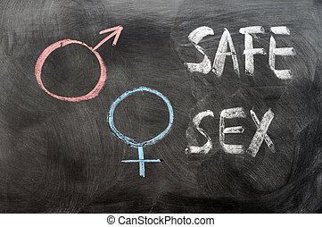 simboli, genere, sicuro, concetto, sesso