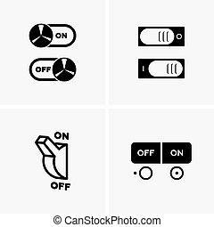 simboli, inserita/disinserita