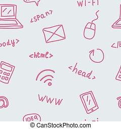 simboli, modello, seamless, web