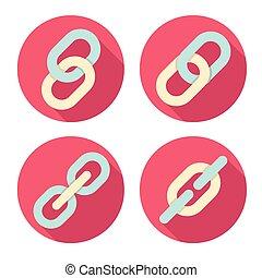 simboli, set, collegamenti, icone