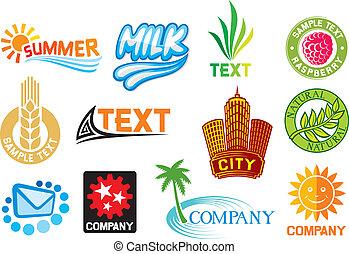 simboli, set, corporativo