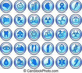 simboli, set, icone, medico, collezione, 2, sanità