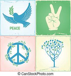 simboli, set, pace