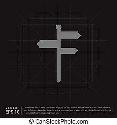 simboli, strada, icona