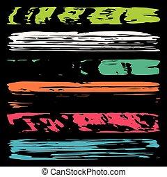 simboli, vettore, collezione, graffito, colorato, linee, ...