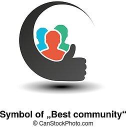 simboli, vettore, comunità