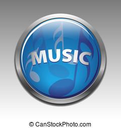 simboli, vettore, musicale, icona