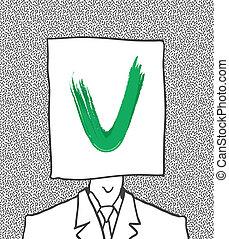 simboli, votazione, vettore, eps8