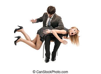 simbolico, foto, di, rapporti, in, squadra affari