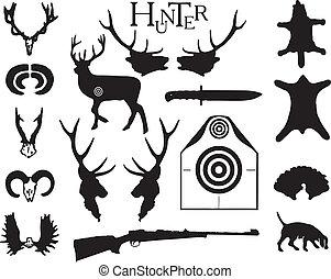 simbolismo, tema, caza
