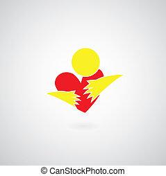 simbolo, abbraccio