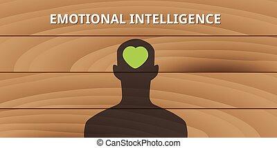 simbolo, amore, umano, intelligenza, emotivo, testa