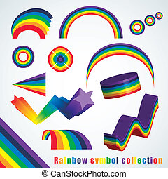 simbolo arcobaleno, set