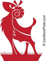 simbolo, ariete, zodiac/horoscope