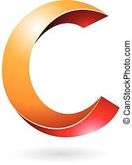 simbolo, astratto, c, lettera