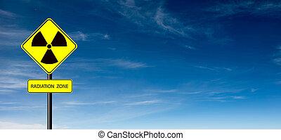 simbolo, avvertimento, radiazione