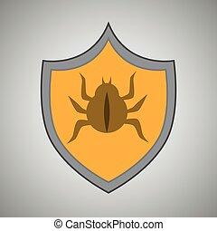 simbolo, avvertimento, virus, allarme