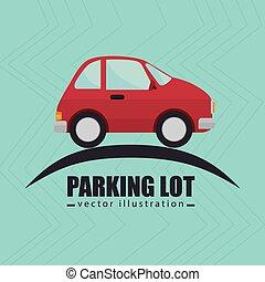 simbolo, avviso, lotto, parcheggio