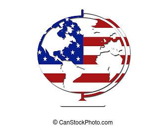 simbolo, bandiera, globo, ci