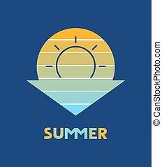 simbolo, bello, estate