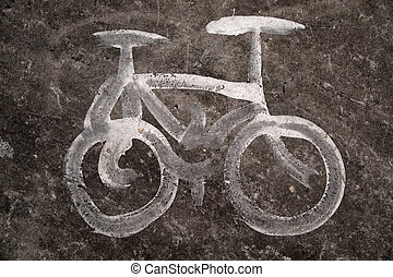 simbolo, bicicletta
