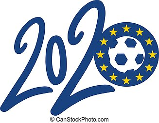 simbolo, calcio, europeo