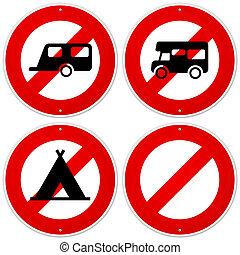 simbolo, campeggiatore, rosso