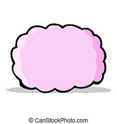 simbolo, cartone animato, nuvola