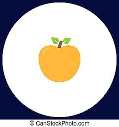 simbolo, computer, mela