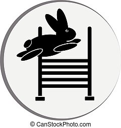simbolo, coniglio, jump.