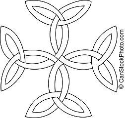 simbolo, croce, triquetras