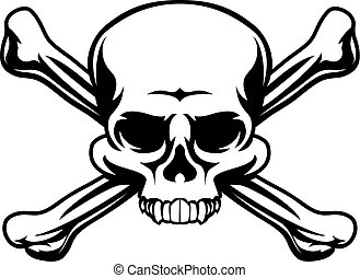 simbolo, crossbones cranio