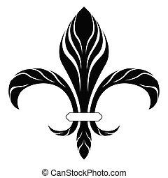 simbolo, de, fleur, lys