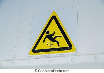 Bagnato segno attenzione pavimento. pavimento plastica vettore