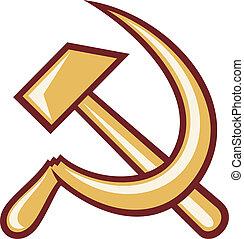 simbolo, di, urss, -, martello falcetto