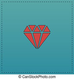 simbolo, diamante, computer
