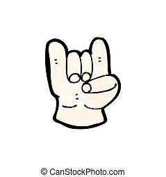 simbolo, diavolo, cartone animato, roccia